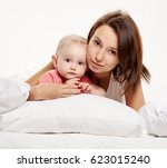 happy family mother and baby... | Shutterstock . vector #623015240
