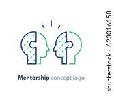 mentorship concept  mentoring... | Shutterstock .eps vector #623016158