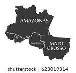 amazonas   acre   rondonia  ... | Shutterstock .eps vector #623019314
