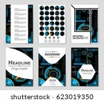 abstract vector layout... | Shutterstock .eps vector #623019350