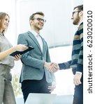 handshake business partners...   Shutterstock . vector #623020010