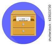 cabinet archive icon | Shutterstock .eps vector #623023730