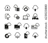 internet cloud computing vector ... | Shutterstock .eps vector #623023880