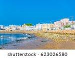 view of the al ayjah town  oman. | Shutterstock . vector #623026580