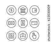 finance icons. finance icons... | Shutterstock . vector #623030009