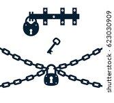 vector illustration of chain ... | Shutterstock .eps vector #623030909