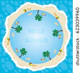 beach | Shutterstock .eps vector #623039960