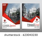 red flyer cover business... | Shutterstock .eps vector #623043230