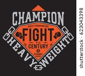 boxing fight sport typography ... | Shutterstock .eps vector #623043398