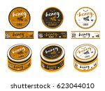 set of templates labels for... | Shutterstock .eps vector #623044010