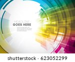 vector of modern abstract... | Shutterstock .eps vector #623052299