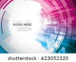 vector of modern abstract... | Shutterstock .eps vector #623052320