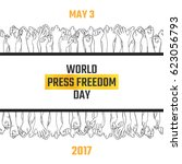 world press freedom day  may 3. ... | Shutterstock .eps vector #623056793