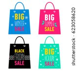 set of advertising shopping... | Shutterstock .eps vector #623058620