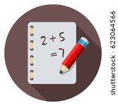 homework icon   Shutterstock .eps vector #623064566