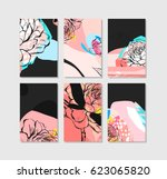set of artistic creative... | Shutterstock .eps vector #623065820
