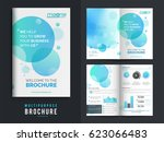 multi purpose brochure with... | Shutterstock .eps vector #623066483
