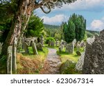 Path Among The Tombstones In...