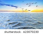 blue sea | Shutterstock . vector #623070230