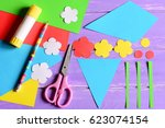 creating paper crafts for... | Shutterstock . vector #623074154