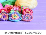 crochet flowers embellished...