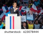 paris  france   april 17  2017  ... | Shutterstock . vector #623078444