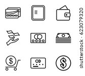 payment icons set. set of 9... | Shutterstock .eps vector #623079320