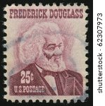 Small photo of UNITED STATES - CIRCA 1965: stamp printed by United states, shows Frederick Douglass, circa 1965.