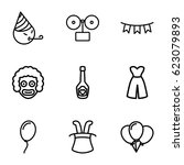 party icons set. set of 9 party ...   Shutterstock .eps vector #623079893
