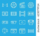 cinema icons set. set of 16... | Shutterstock .eps vector #623079914