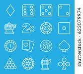 gamble icons set. set of 16... | Shutterstock .eps vector #623079974