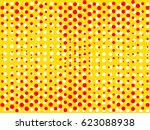 background with dots of red and ... | Shutterstock .eps vector #623088938
