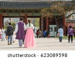 Couple In Traditional Korean...