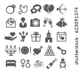 wedding icons | Shutterstock .eps vector #623091374