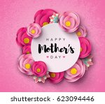 happy mother's day calligraphy... | Shutterstock .eps vector #623094446