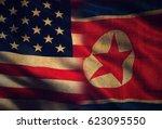 Small photo of USA vs. North Korea - graphic concept