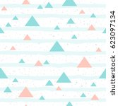 soft pastel triangle seamless... | Shutterstock . vector #623097134