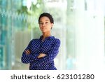 portrait of serious business... | Shutterstock . vector #623101280
