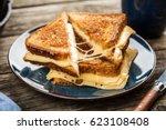 grilled cheese sandwich | Shutterstock . vector #623108408