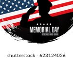 memorial day. remember and... | Shutterstock .eps vector #623124026