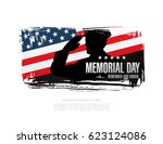 memorial day. remember and... | Shutterstock .eps vector #623124086