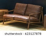 the beautiful brown leather... | Shutterstock . vector #623127878