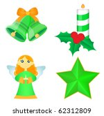 set of christmas icons | Shutterstock .eps vector #62312809