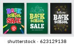 back to school sale vector set...