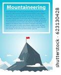 mountaineering on peck mountain.... | Shutterstock .eps vector #623130428
