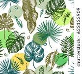decorative seamless pattern... | Shutterstock .eps vector #623132909