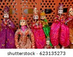 traditional indian puppets | Shutterstock . vector #623135273