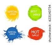 collection symbols such as... | Shutterstock .eps vector #623140754