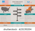 usa   new york state... | Shutterstock .eps vector #623150204