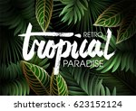 summer tropical background  for ... | Shutterstock .eps vector #623152124